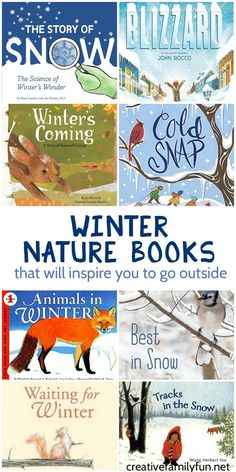 Winter nature books that will make you want to get out and explore in the snow. books Winter Nature Books for Kids - Creative Family Fun Nature Activities, Winter Activities, Book Activities, Preschool Activities, Children Activities, Outdoor Activities, Winter Fun, Winter Theme, Snow Theme