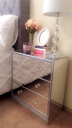 DIY mirror nightstand I made :)