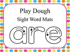 Play Dough Sight Word Mats ($)