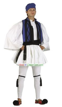 Traditional Ancient Greek Costume Dress Clothing