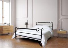 Metallbett Cadiz 140cm, Farbe HL/2 Hochglanz Schwarz Cadiz, Daybeds, Design, Furniture, Home Decor, Waterbed, Nightstand, Bedroom, Colour