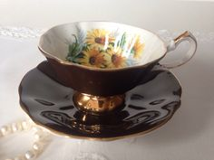 Chocolate Brown Queen Anne China Tea Cup & Saucer by TheEclecticAvenue on Etsy https://www.etsy.com/listing/206137418/chocolate-brown-queen-anne-china-tea-cup