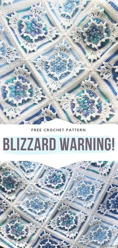 How to Crochet Blizzard Warning! How to Crochet Blizzard Warning!,Crochet Squares and Blocks Blizzard Warning! Free Crochet Pattern This seasonal piece looks like a snowflake. It is structural, intricate and so beautiful! Crochet Afghans, Crochet Squares Afghan, Granny Square Crochet Pattern, Crochet Blocks, Afghan Crochet Patterns, Crochet Granny, Crochet Motif, Crochet Cushions, Crochet Pillow