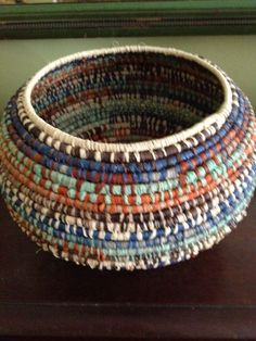New basket weaving rope handmade 50 ideasYou can find Basket weaving and more on our website.New basket weaving rope handmade 50 ideas Raffia Crafts, Rope Crafts, Rope Basket, Basket Weaving, Pine Needle Baskets, Fabric Bowls, Weaving Projects, Handmade Ideas, Handmade Rugs