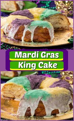 Keep the party going with our easy version of a Mardi Gras King Cake. It's even decorated in the traditional colors of purple, green, and gold.