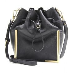 3.1 Phillip Lim Scout Small Drawstring Leather Bag ($994) ❤ liked on Polyvore