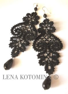 Любовь Малая Lace Earrings, Drop Earrings, Bobbin Lace Patterns, Ring Bracelet, Diy Jewelry, Tatting, Folk, Crafts, Handmade