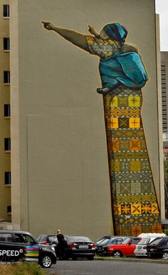 South African street art by Amazing Street Art, Best Street Art, 3d Street Art, Street Art Graffiti, Street Artists, Urbane Kunst, South African Art, Spray Paint Art, African Artists