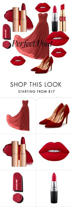 """""""Red lipstik"""" by amiraahmetovic ❤ liked on Polyvore featuring beauty, Remedios, Rupert Sanderson, Lime Crime, Chanel, MAC Cosmetics and Yves Saint Laurent"""