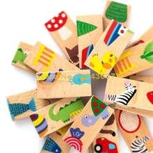 Montessori Wooden Domino Blocks Early Education Blocks Kids Toys For Children Brinquedos Oyuncak Brinquedo Juguetes 44 Montessori, Puzzles, Educational Baby Toys, Wood Animal, Quilling Techniques, Best Kids Toys, Baby Blocks, Early Learning, Learning Toys