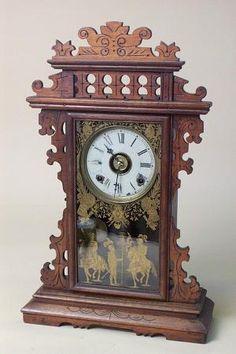antique clocks | Antique Clocks E.N. Welch Antique Mantel Clock in Walnut Grandfather ...