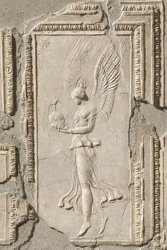 """history-museum: """"Winged Athena holding a helmet unearthed inside an Etruscan villa c. Roman Sculpture, Art Sculpture, Sculptures, Roman History, Art History, History Museum, Ancient Rome, Ancient History, Architecture Romaine"""