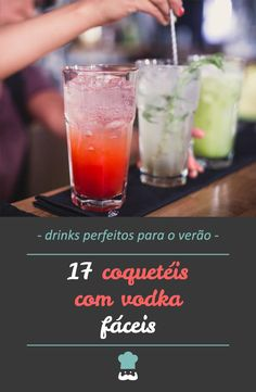 Check out all these vodka drink recipes and get ready to liven up your party! Drinks Com Vodka, Cocktails, Food N, Food And Drink, Rainbow Drinks, Easy Drink Recipes, Sweet And Salty, Tequila, Easy Meals
