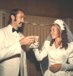 Aug. 1970 Wedding Toast.  The mustache is the star of this show.