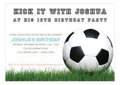 Soccer Ball on Grass Invitation