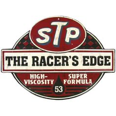 If timeless nostalgic decor revs you up, this STP The Racer's Edge Embossed Die Cut Tin Sign is sure to get your motor running! This classic motor oil advertisement sign is the perfect accent for a ma