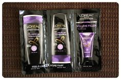 July 2014 Beauty Army: L'Oreal Paris Volume Filler Thickening Shampoo, Conditioner, and Lotion. This revolutionary advanced haircare line from L'Oreal Paris creates voluptuous, volume-infused hair. Featuring Filloxane and Arginine-K Complex, this product creates texture from within, generating thicker-feeling hair. The Lotion is a weightless treatment and styler all in one that should be applied after blow drying. Price: $12/month -- #beauty #beautyarmy #makeup #subscriptionbox #cosmetics…