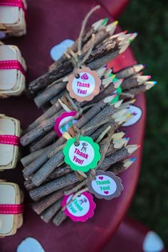 Party favor idea for a woodland-themed Fall Party.