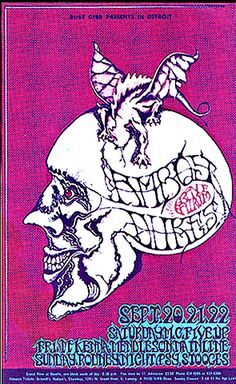Psychedelic Postcards ....  Grande Ballroom ....  Detroit ....  1968 .....  Amboy Dukes ...  McKenna Mendelson .... Mainline ...  Rodney  Night .... Psychedelic Stooges ....  artist .... DONNIE DOPE