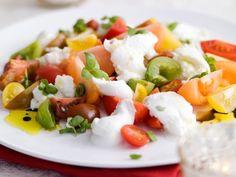 Italiaanse eenvoud - Libelle Lekker! Salade Caprese, Recipe Images, Feta, Sushi, Salads, Food And Drink, Veggies, Low Carb, Yummy Food