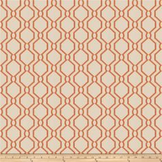 Fabricut Zeitnot Persimmon from @fabricdotcom  This lovely woven fabric is perfect for draperies, valences, and upholstery projects.  Fabric features 18,000 double rubs.