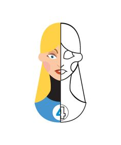 flat minimal superheroes Invisible Woman