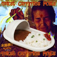 Why? The Toilet Curry Rice Plate