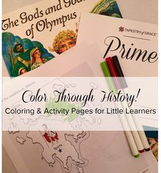 Allow your young student to color while you read about history! See samples at the bottom of the post.