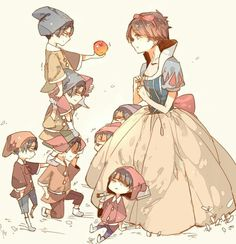 Eren and the Seven Levi's.