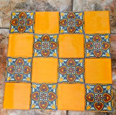 16  Mexican Talavera Tiles handmade Hand painted 4 by MexicanTiles, $32.00