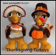 PDF Turkeys Crochet Patterns, crochet bird, crochet thanksgiving, amigurumi…