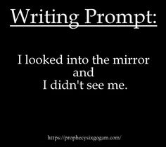 Writing Prompt // Thriller Prompt // Horror Prompt // Scary story idea