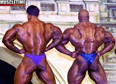 2000 - Kevin Levrone, USA (16 July 1965), height 5-foot-11 (180 cm) with Ronnie Coleman
