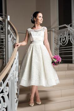 Brautkleider - Spitzen-Brautkleid Hochzeitskleid Davinia 50-er - ein Designerstück von Elegance-Fashion bei DaWanda
