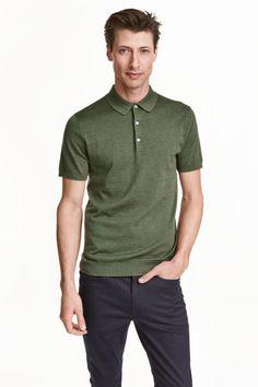 Silk-blend polo shirt | H&M
