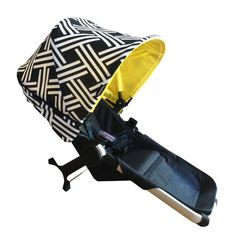 ēmaSēma Night Out with Yellow Lining Sun Canopy Couture for your Bugaboo.