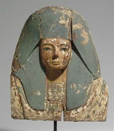 AN EGYPTIAN PAINTED WOOD COFFIN BOARD RAMESSIDE PERIOD, DYNASTY XIX-XX