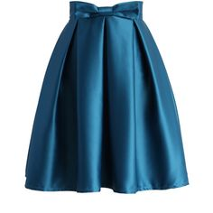 Chicwish Sweet Your Heart Pleated Skirt in Sapphire Blue ($42) ❤ liked on Polyvore featuring skirts, saias, blue, blue knee length skirt, heart skirt, blue skirt, pleated skirt and embellished skirt