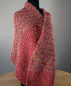 Hand Knit Shawl Scarf Wrap Prayer/Meditation Shawl Mothers Day Gift Free Shipping by peacefulpath, $54.00
