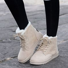 Hot cotton non-slip women snow boots fashion red warm winter shoes female lace up Flat fur ankle boots for women plus size Ankle Snow Boots, Snow Boots Women, Knee High Boots, Winter Shoes For Women, Boots For Women, Ladies Winter Boots, Calf Boots, Snow Boots Outfit, Ugg Boots