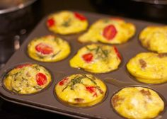 Paleo egg pie muffins (I've done these before, they're super easy to store and heat up. Really easy to eat on the go, too) Egg Recipes For Breakfast, Paleo Breakfast, Breakfast Muffins, Breakfast Ideas, Tomato Breakfast, Free Breakfast, Breakfast Dishes, Breakfast Time, Breakfast Casserole