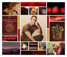 """""""Godric Gryffindor"""" by nyssa-fire ❤ liked on Polyvore featuring art"""