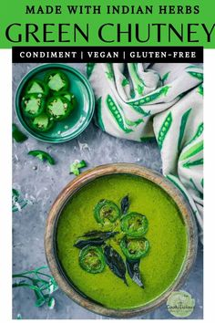 Mint Cilantro chutney/coriander chutney is an Indian Condiment. This cilantro lime sauce can be used as a dip/spread. Try this recipe of green chutney today Cilantro Chutney, Cilantro Lime Sauce, Green Chutney, Delicious Vegan Recipes, Vegetarian Recipes, Delicious Appetizers, Tasty, Healthy Recipes, Savory Sauce Recipe