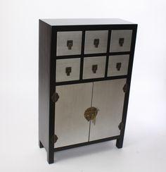 Muebles para el Hogar: Muebles Orientales   Mueble oriental o japones dorado de madera 6 cajones y 2 puertas MB-87224 negro y plata                                                                                                                                                                                 Más