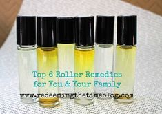 Top 6 Roller Remedies for You & Your Family to Have on Hand – Redeeming The Time Blog