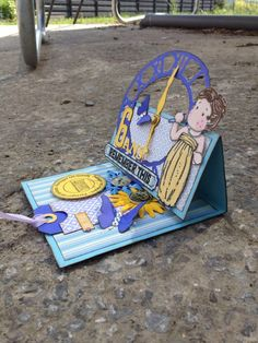 carte chevalet pour le 6ème anniversaire de ma filleule http://mag0604b.canalblog.com