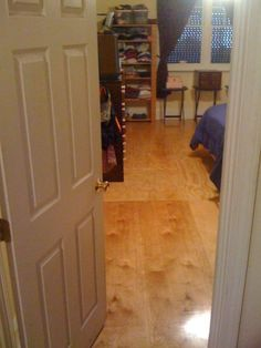 DIY PLYWOOD FLOORS I think I would stain the flooring