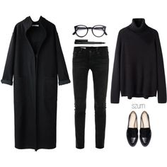 A fashion look from February 2014 featuring Hope sweaters, Apiece Apart coats and AG Adriano Goldschmied jeans. Browse and shop related looks.