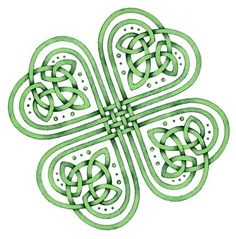 Just a random good luck shamrock with nice celtic symbols.