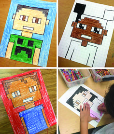 Minecraft Selfie Tips. Mix a little math with your art for some portrait fun. #minecraft